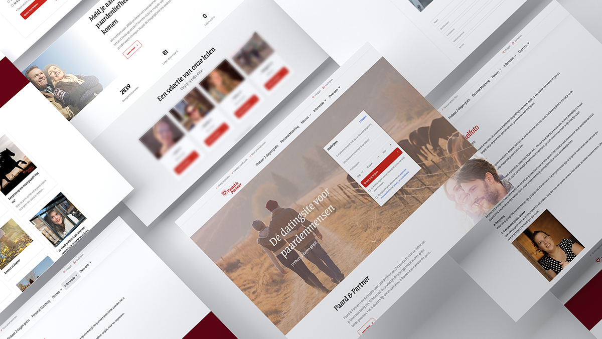 Website mockup Website Paard&Partner