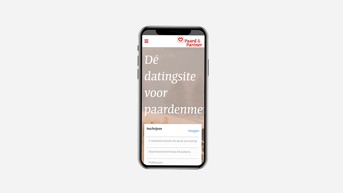 Website mockup telefoon Paard&Partner